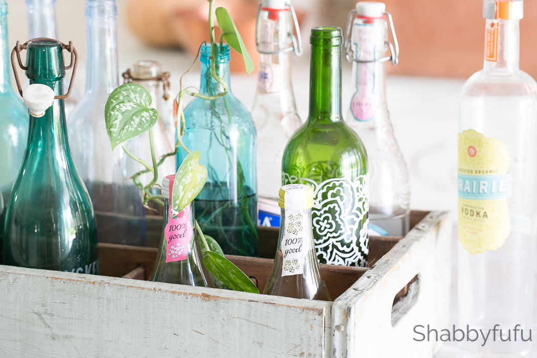 vintage crate with bottles