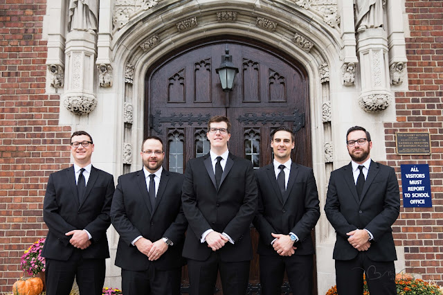 groomsmen at Grosse Point Academy