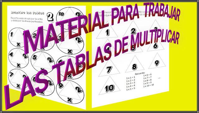 MATERIAL PARA TRABAJAR LAS TABLAS DE MULTIPLICAR