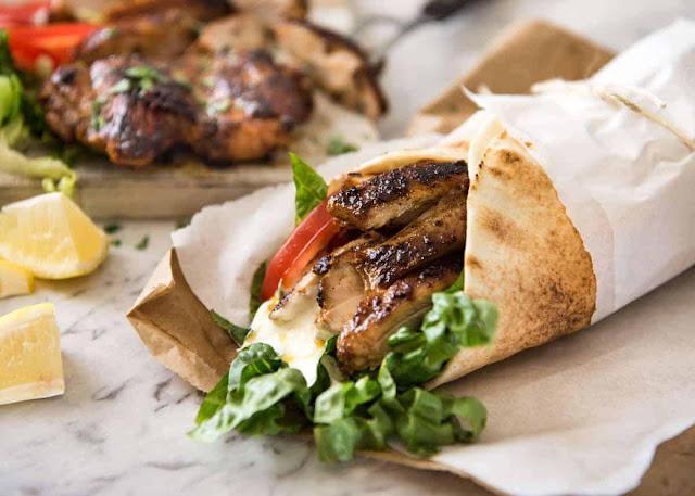 شاورما الدجاج طريقة تحضيرها باسهل الوصفات