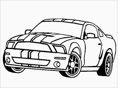 Ford Shelby GT500 Coloring Pages