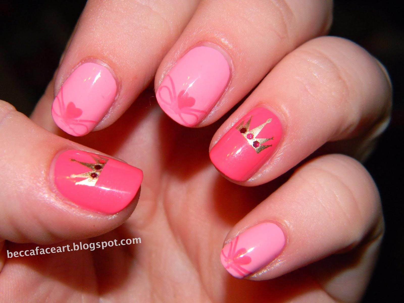 Becca Face Nail Art: Pretty Pretty Princess Nails