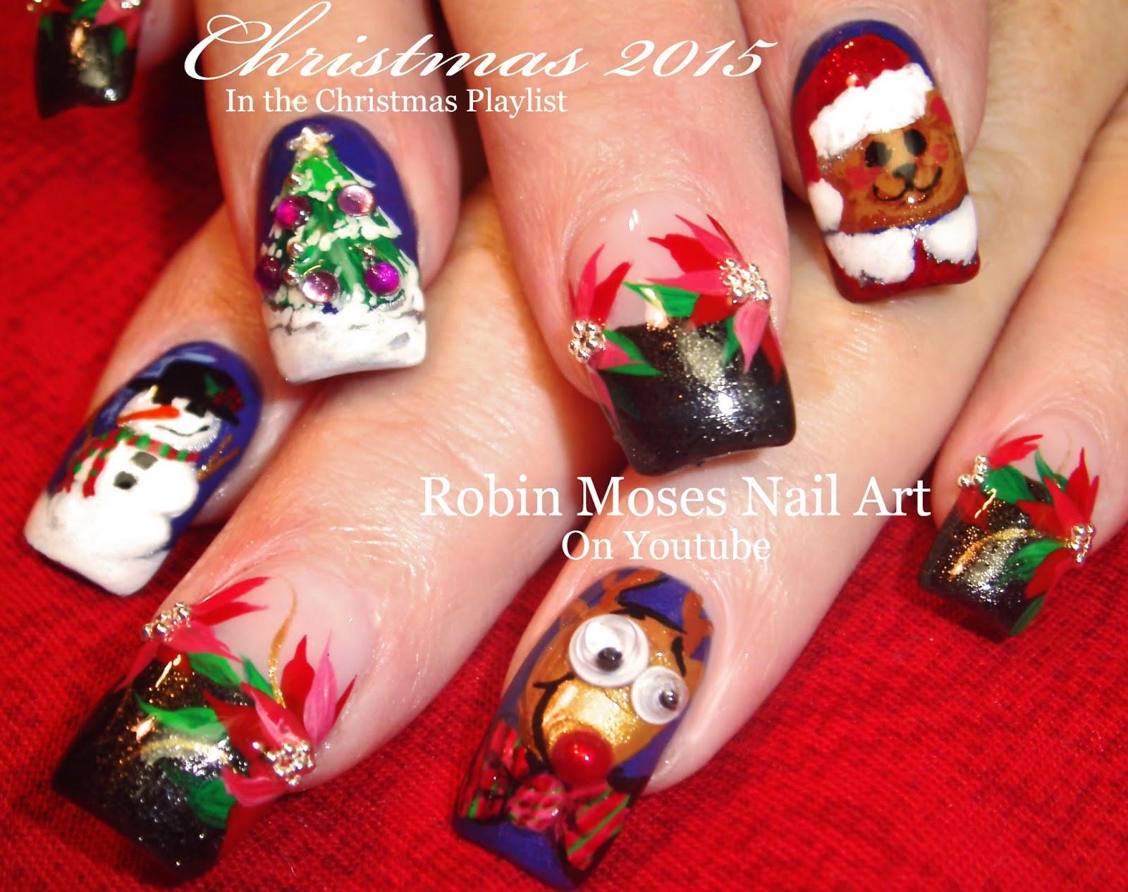Nail Art by Robin Moses: Christmas Scene Nail Art Ideas ...