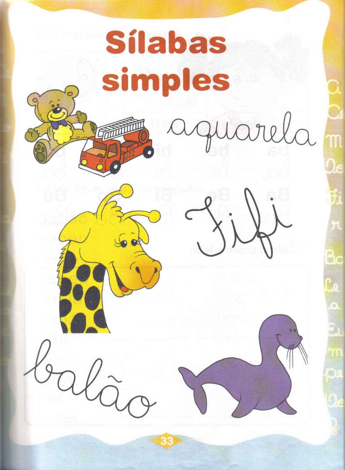 sílabas simples ga go gu