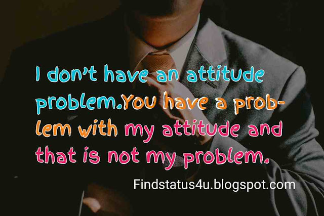 Attitude Status for Instagram in English