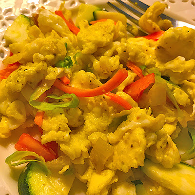 Veggie egg scramble.
