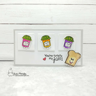 Just MY Jam a card by Diane Morales | Love Bites Stamp Set by Newtons Nook Designs