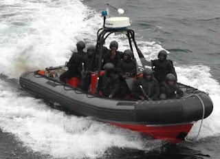 A nigerian navy rigid inflatable boats used by the NNSBS
