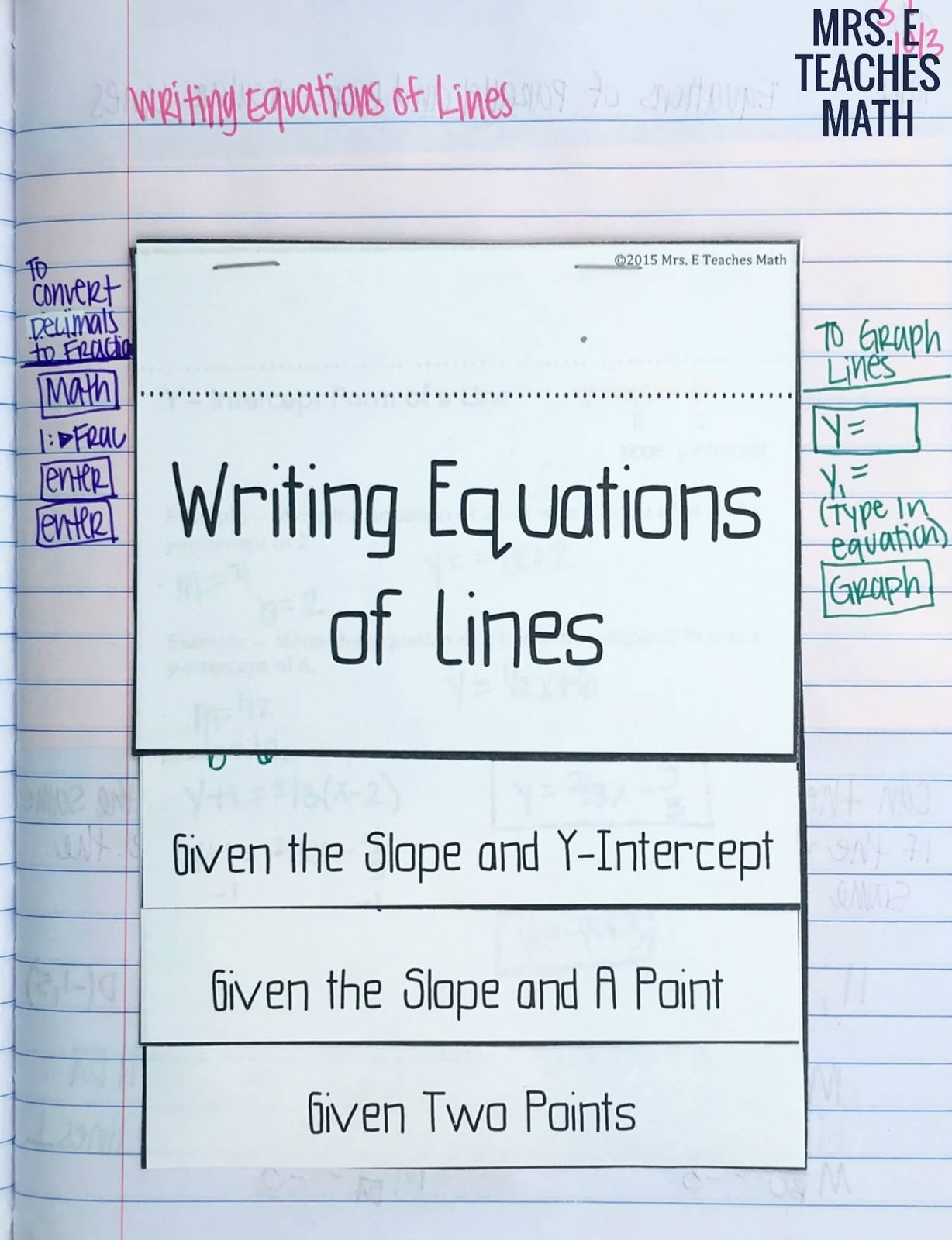 Equations Of Parallel And Perpendicular Lines Inb Pages