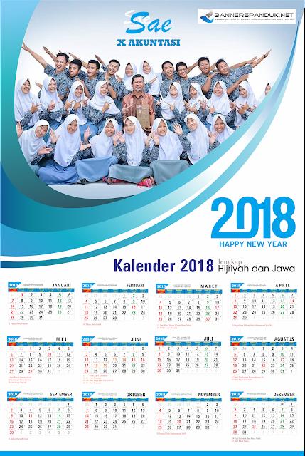 Download Kalender 2018 Masehi Cdr lengkap dengan Tanggal Hijriyah