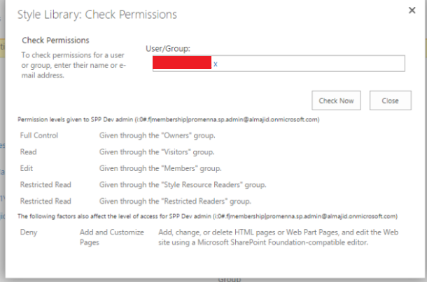 sharepoint techie add and customize pages permission denied to site