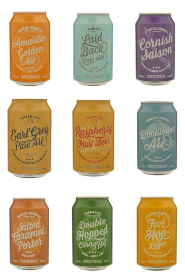 A selection of M&S summer craft beers in cans