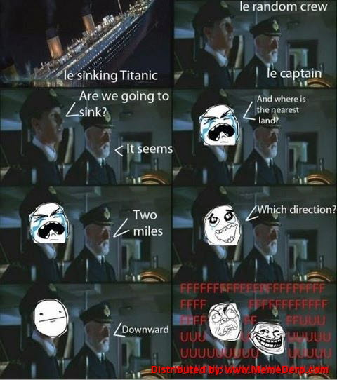 Derp Finds Direction in Sinking Titanic Meme