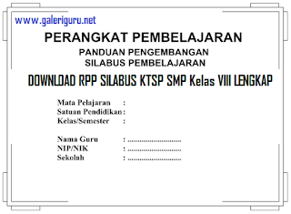 DOWNLOAD RPP SILABUS KTSP SMP Kelas VIII LENGKAP
