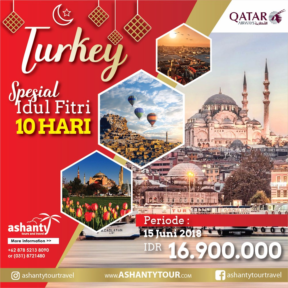 Turki 10D  - Lebaran Holiday Tour 2018