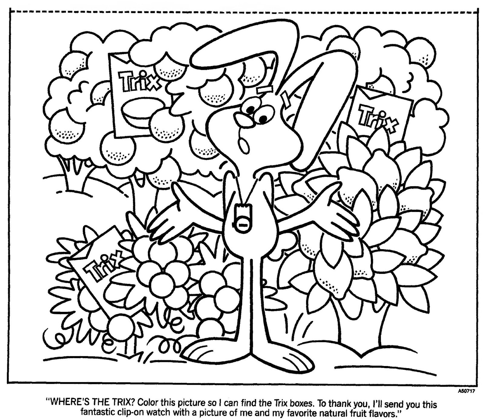 Trix coloring pages ~ Mostly Paper Dolls Too!: March 2013