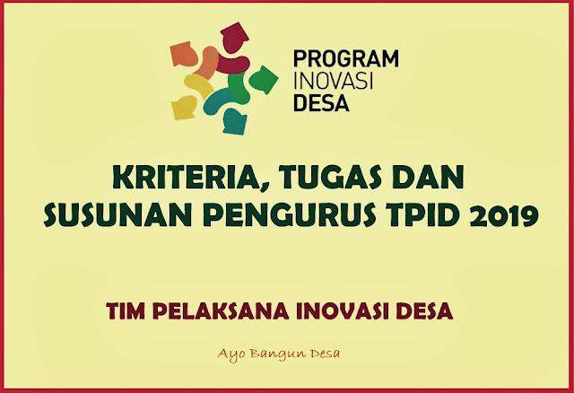 Petunjuk Teknis Program Inovasi Desa Tahun 2019