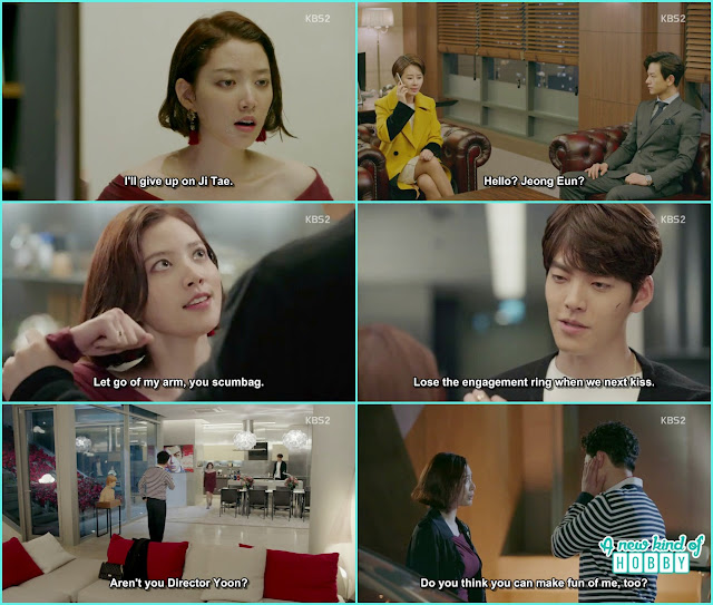 joon Young ask Jeon Eun to loose her engagment ring when they next kiss - Uncontrollably Fond - Episode 16 Review