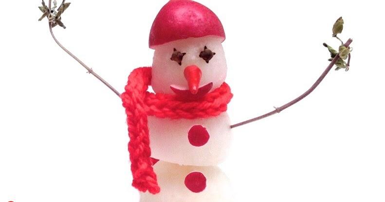 1 sculpture de fruit et l gume comment faire un bonhomme de neige avec des radis how to make - Comment faire un bonhomme ...