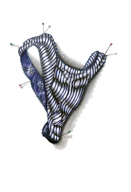 String à rayures bleues proposé par Marie