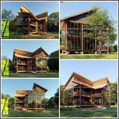 Rumah dari Serat Bambu, Hunian Tahan Gempa dan Ramah Lingkungan