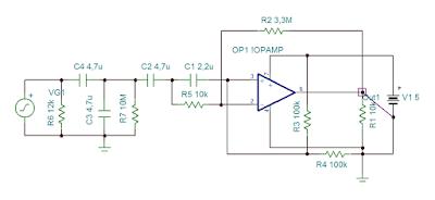 Amplificador para o sensor de monitor cardíaco