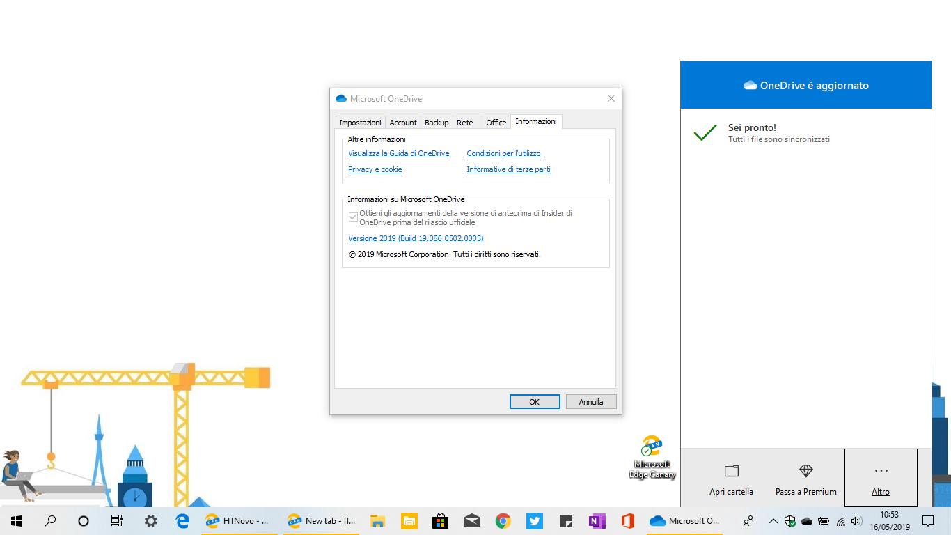 OneDrive ottiene il supporto al Tema chiaro di Windows 10