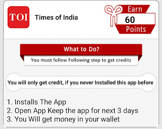 How To Complete Times Of India Offer In self earning option in champ cash
