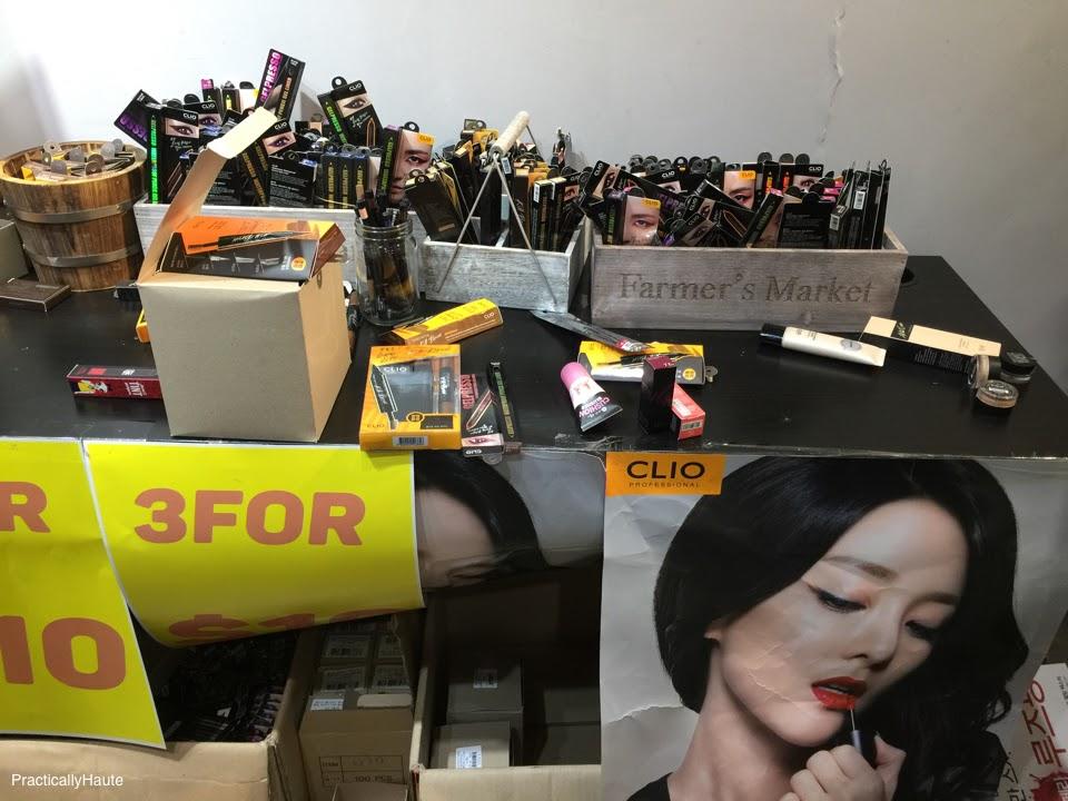 Club Clio sample sale makeup