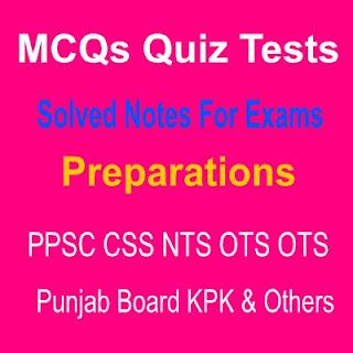 Online MCQs Quiz List