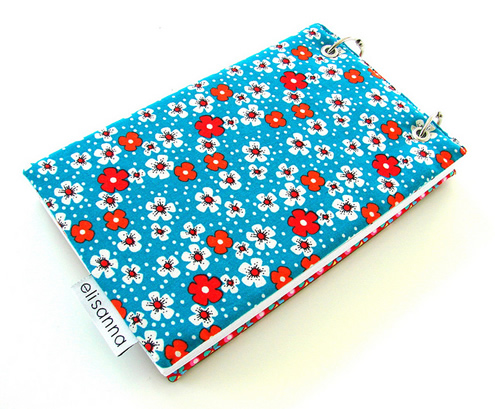 Note book cover, sewing tutorial by Elisanne | Happy in Red