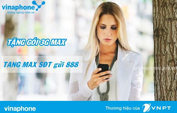 Hướng dẫn tặng gói 3G MAX Vinaphone cho thuê bao khác