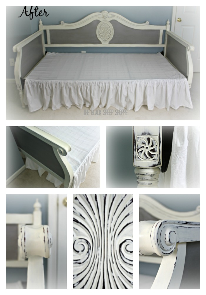 Daybed painted in French Linen and Old White Chalk Paint