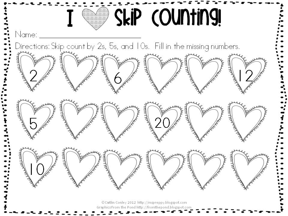 Free Skip Counting Worksheets For Kindergarten | Coloring Pages