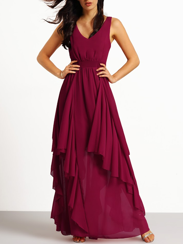 www.romwe.com/Burgundy-Deep-V-Neck-Maxi-Chiffon-Dress-p-148105-cat-724.html?utm_source=simply2wear.com&utm_medium=blogger&url_from=simply2wear