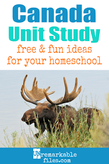 This Canada unit study is packed with activities, crafts, book lists, and recipes for kids of all ages! Make learning about Canada in your homeschool even more fun with these free ideas and resources. #canada #homeschool