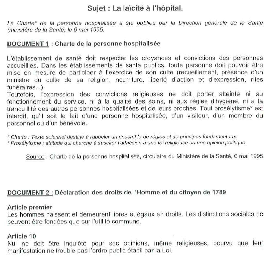 La charte de la personne hospitalisée ch aulnay