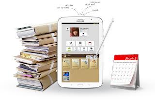 meluncurkan produk yang sangat elegan dan siap membantu menuangkan coretan ide Fitur Galaxy Note 8.0 GT-N5100