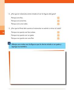 Apoyo Primaria Español 1er grado Bimestre 2 lección 7 Lo que pienso del cuento