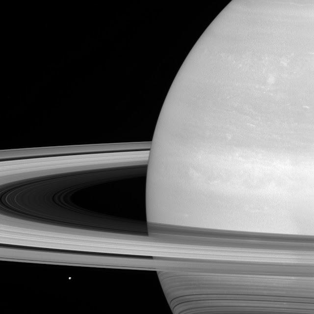 Saturn's icy moon Mimas