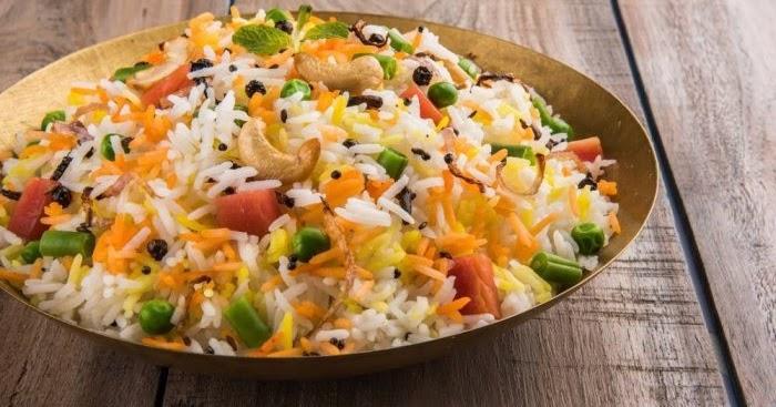 طريقة عمل أرز بسمتي ملون