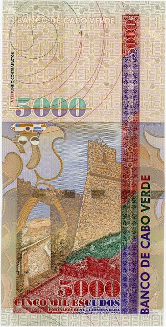 Cape Verde 5000 Escudos banknote 2000 Royal Fort