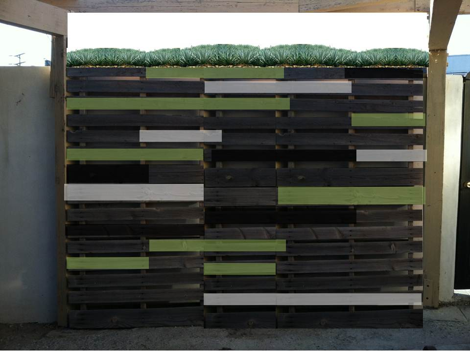Behind the Scenes at Mod Mom Furniture: The Finished ... on Backyard Feature Walls id=20820