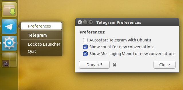 Telegram Unity WebApp Integrates Telegram With Ubuntu's