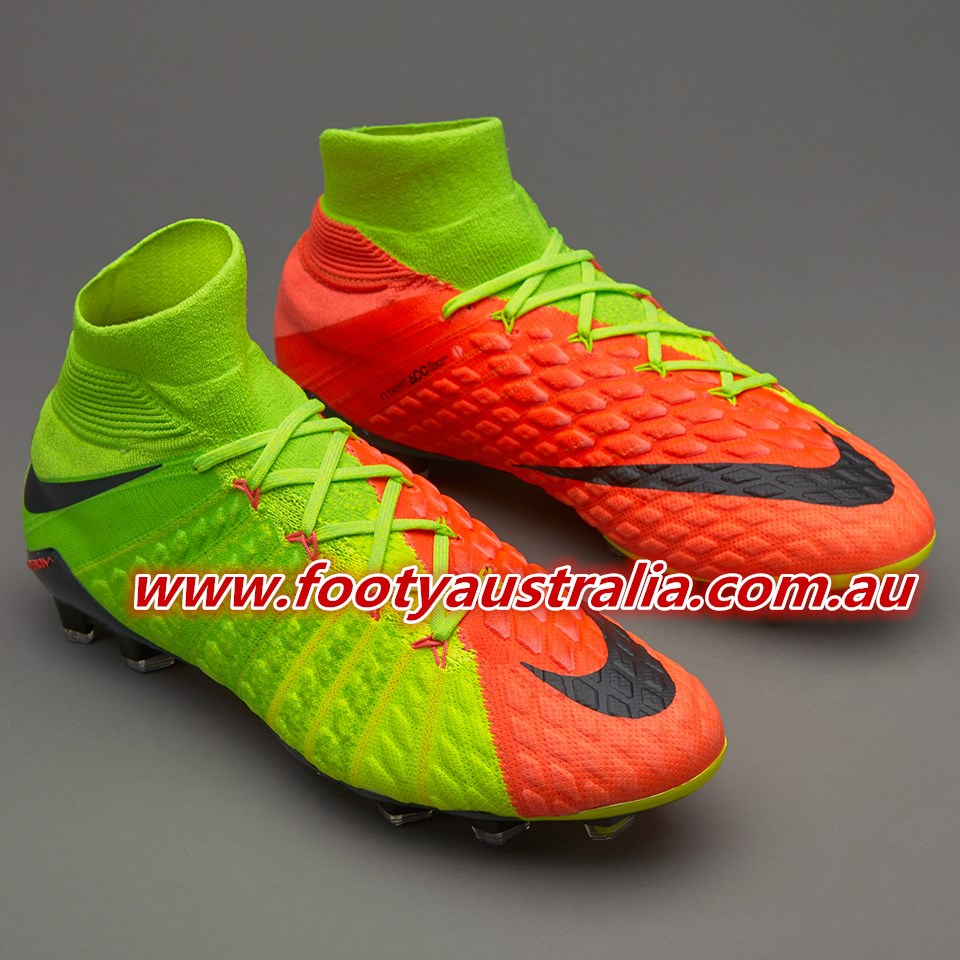detailed pictures 58761 97310 footyaustralia.com.au: Electric Green Nike Hypervenom ...