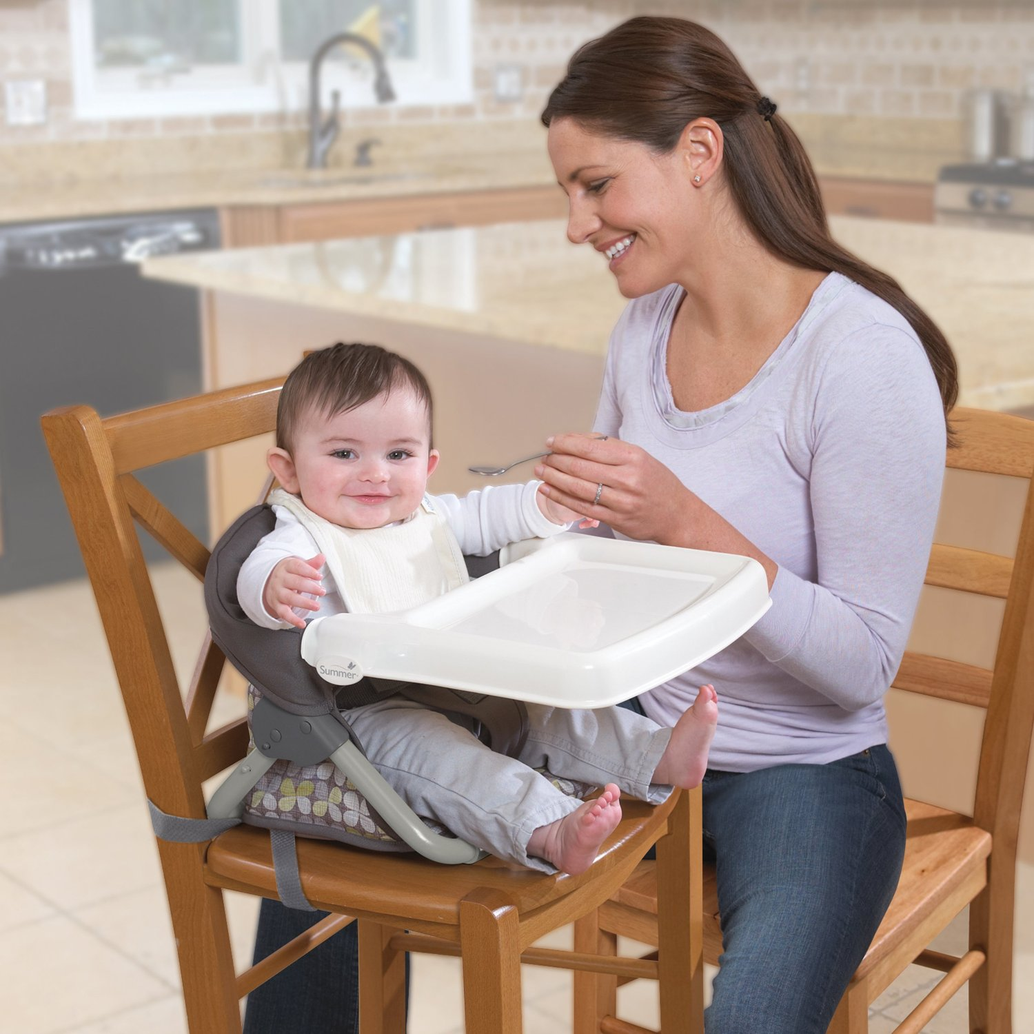 high chair that attaches to counter makes into twin bed baby table a neat idea