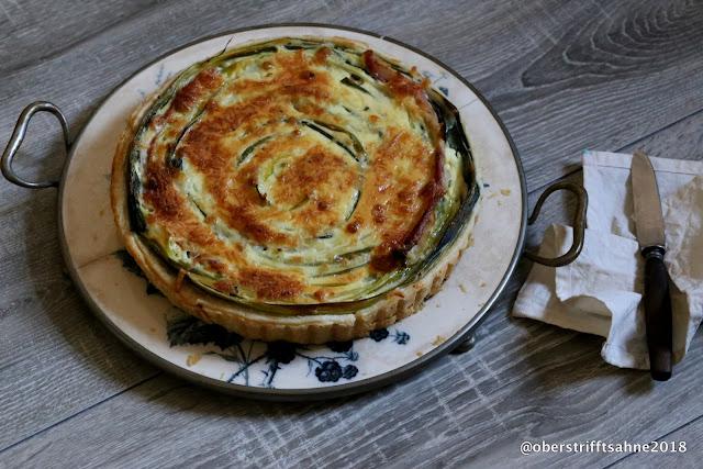 Blätterteig Tarte mit Lauch und Käse