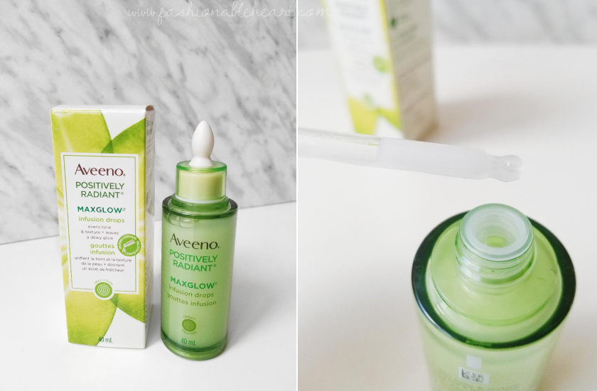 bblogger, bbloggers, bbloggerca, canadian beauty blogger, beauty blog, aveeno, positively radiant, max glow, maxglow, sleep mask, peel off mask, no mess, infusion drops, dry skin, subtle glow, review, applicator, aveeno skincare, drugstore, product review