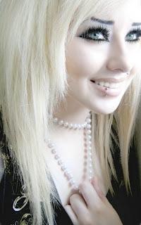 Emo Girl Blonde Hair C