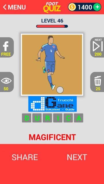 FootQuiz Calcio Quiz Football ( EURO 2016) soluzione livello 41-50